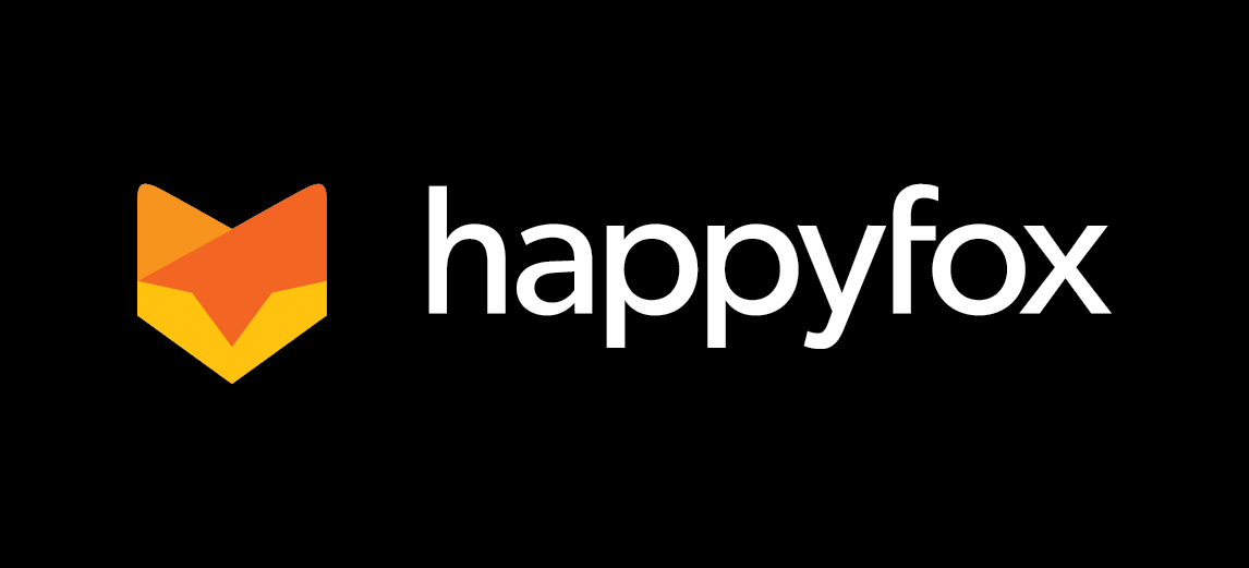 HappyFox logo black