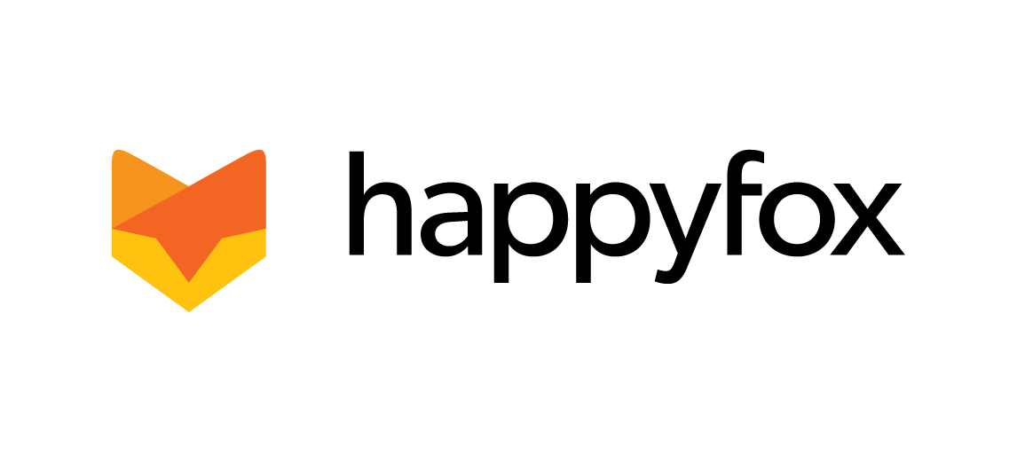 HappyFox logo white