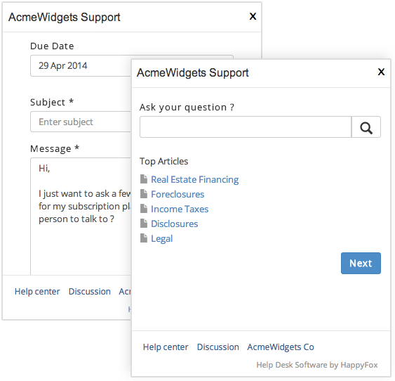 Embed customer support widget on your website