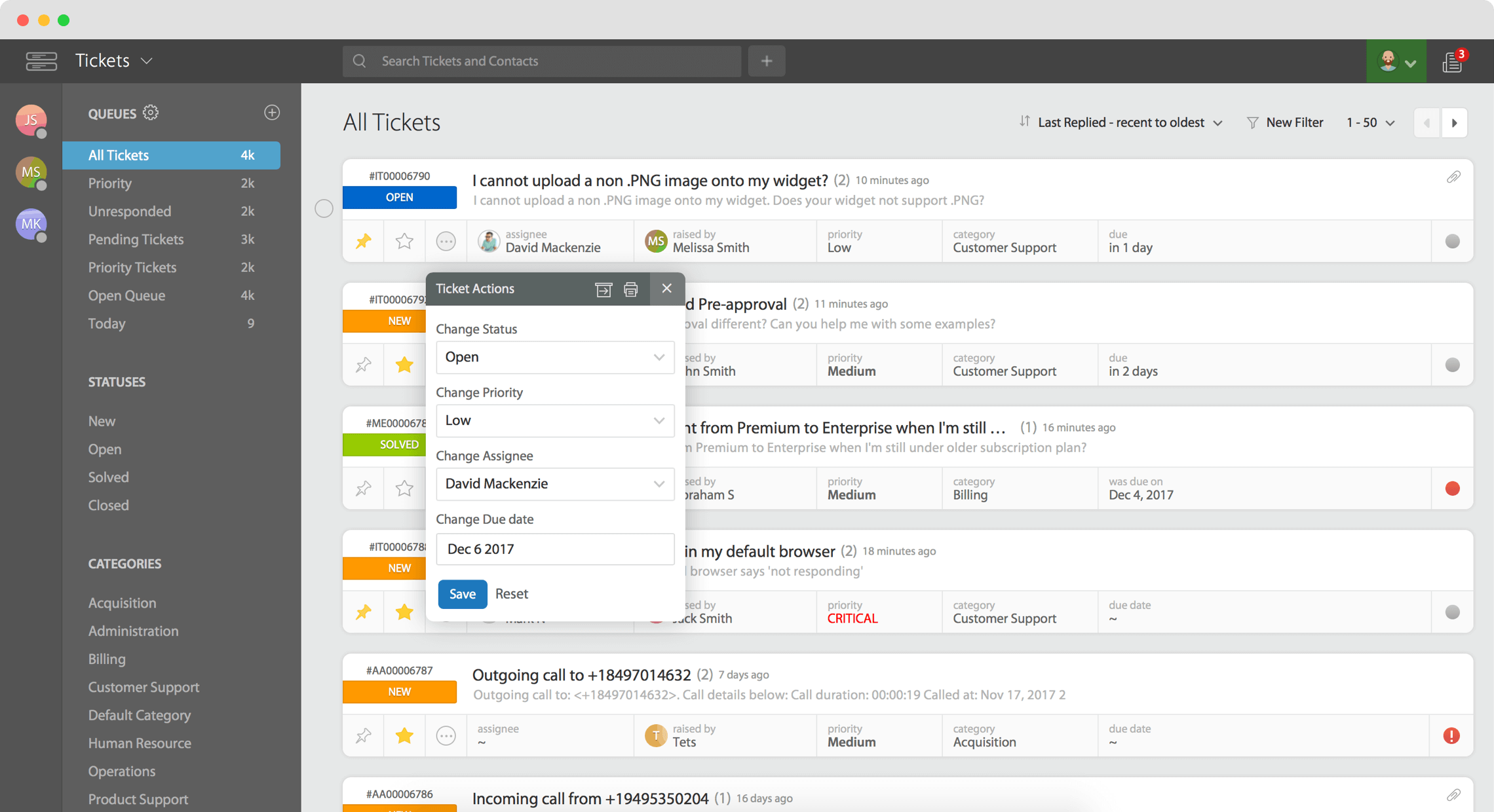 Happyfox email management and collaboration software