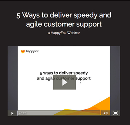 5 Ways to deliver speedy and agile customer support