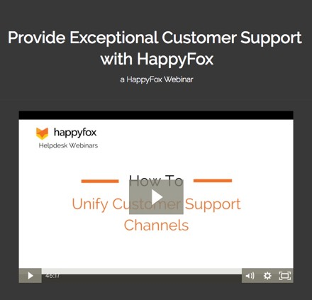 Provide Exceptional Customer Support with HappyFox