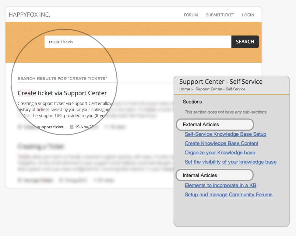 manage and organize common support staff and customer questions on a centralized knowledge base