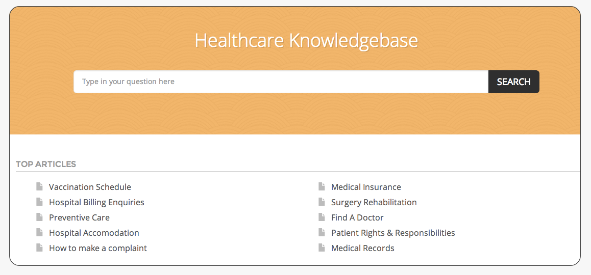 HappyFox healthcare self service knowledgebase system