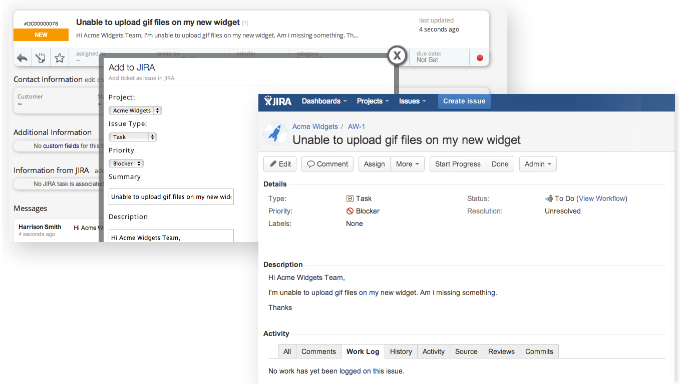 Jira Issue tracking software integrates with happyFox help desk