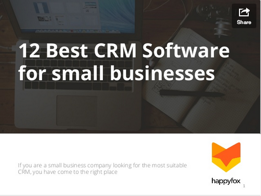 12 Best CRM software for small business
