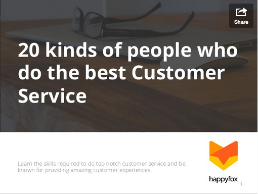 20 kinds of people who do the best customer service