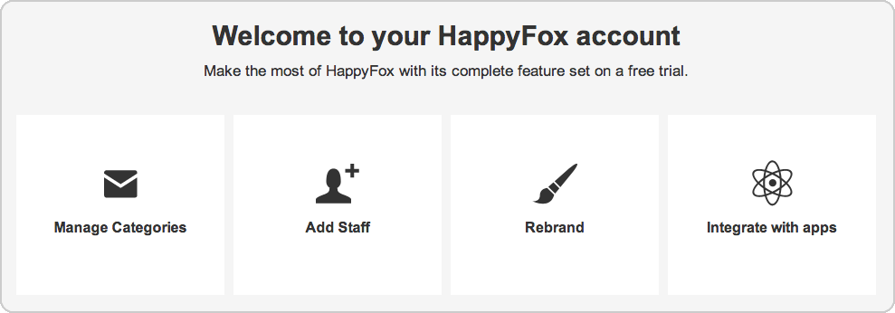 HappyFox makes it simple to set up your help desk