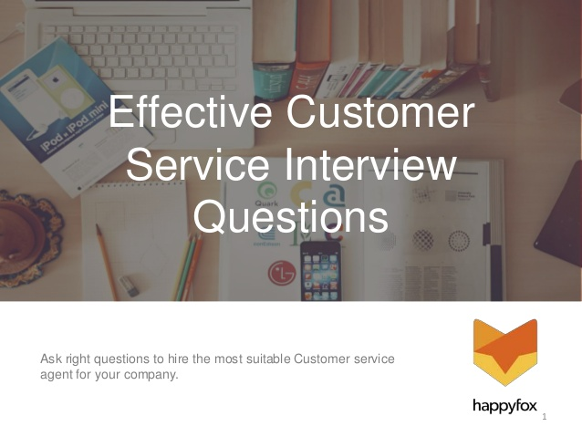Effective Customer Service Interview Questions