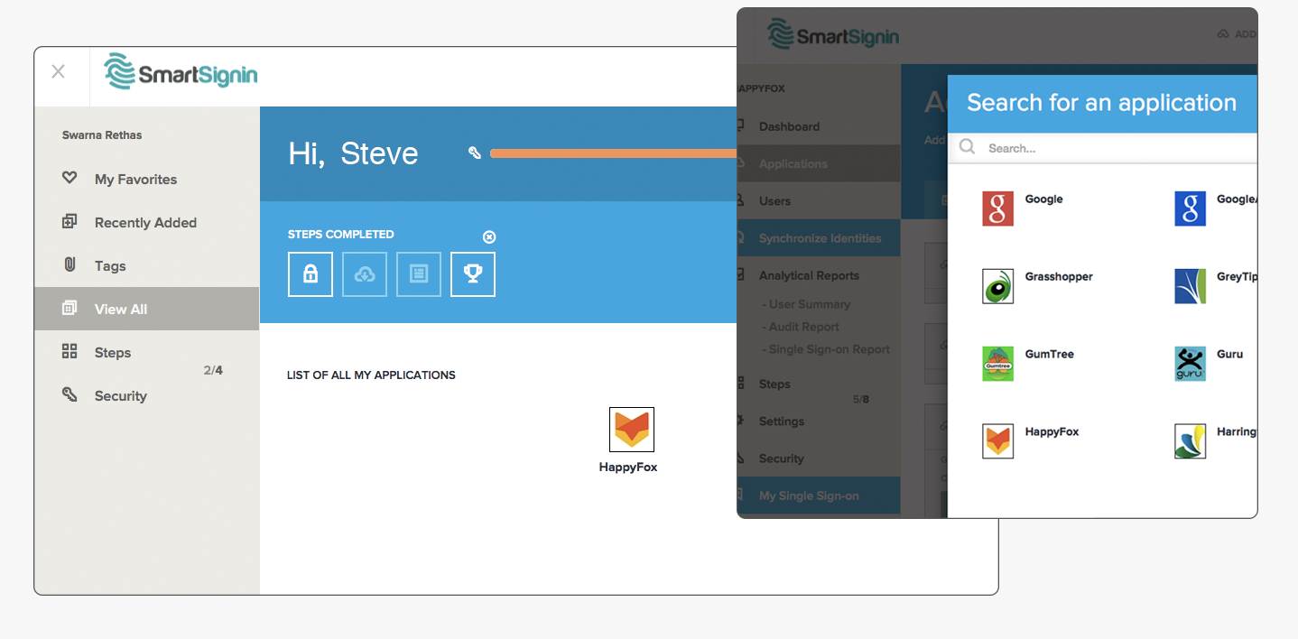 Manage HappyFox customer support software on SmartLogIn with SSO integration