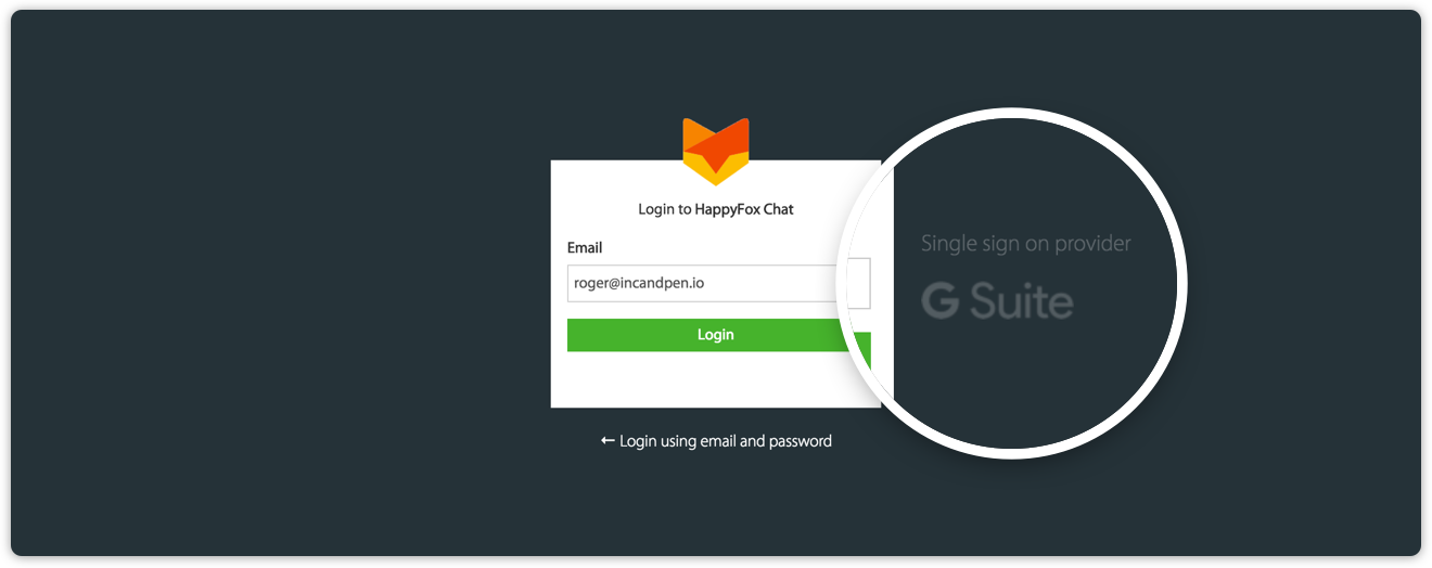 Access HappyFox chat with Gsuite