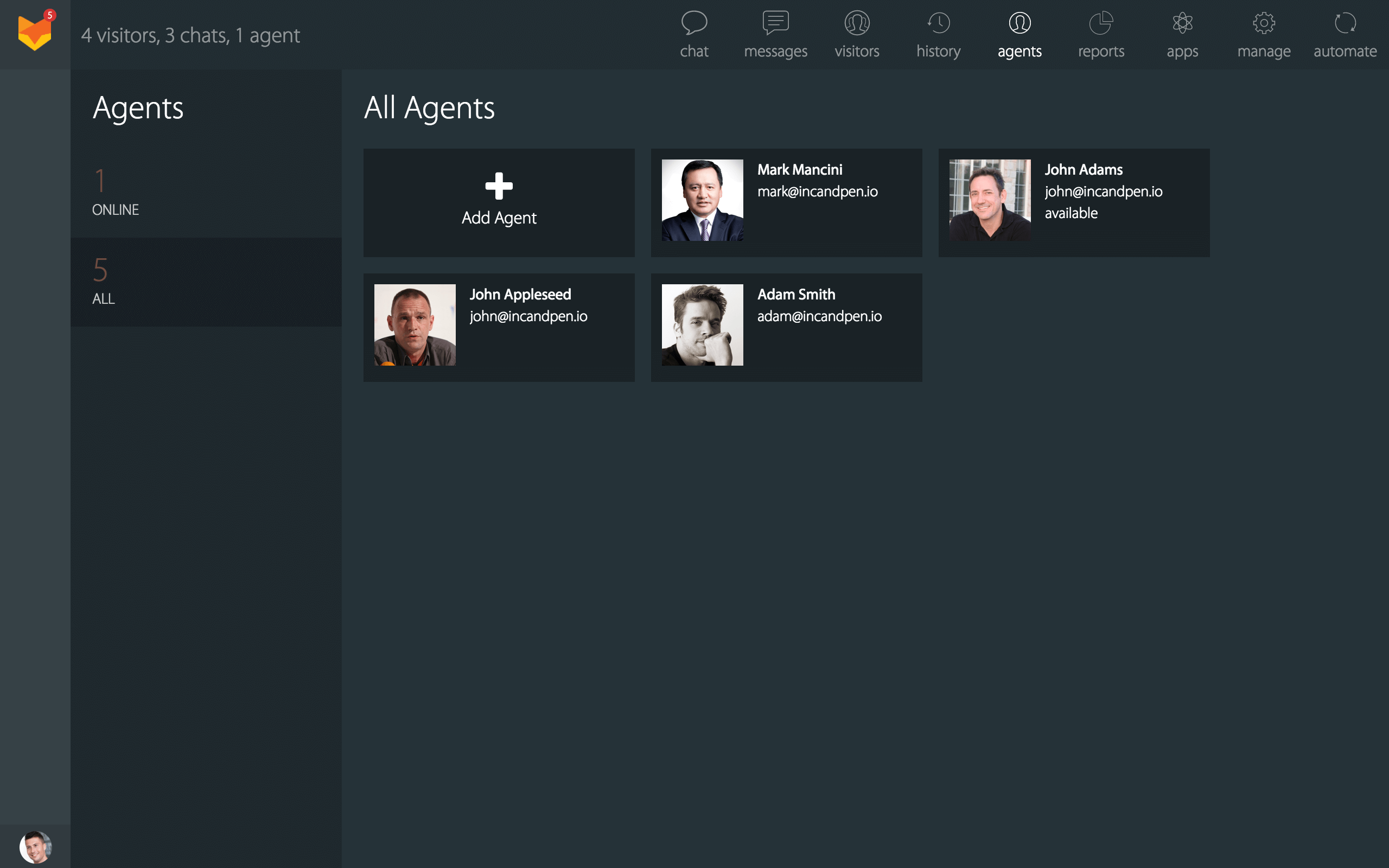 Manage agents from Gsuite