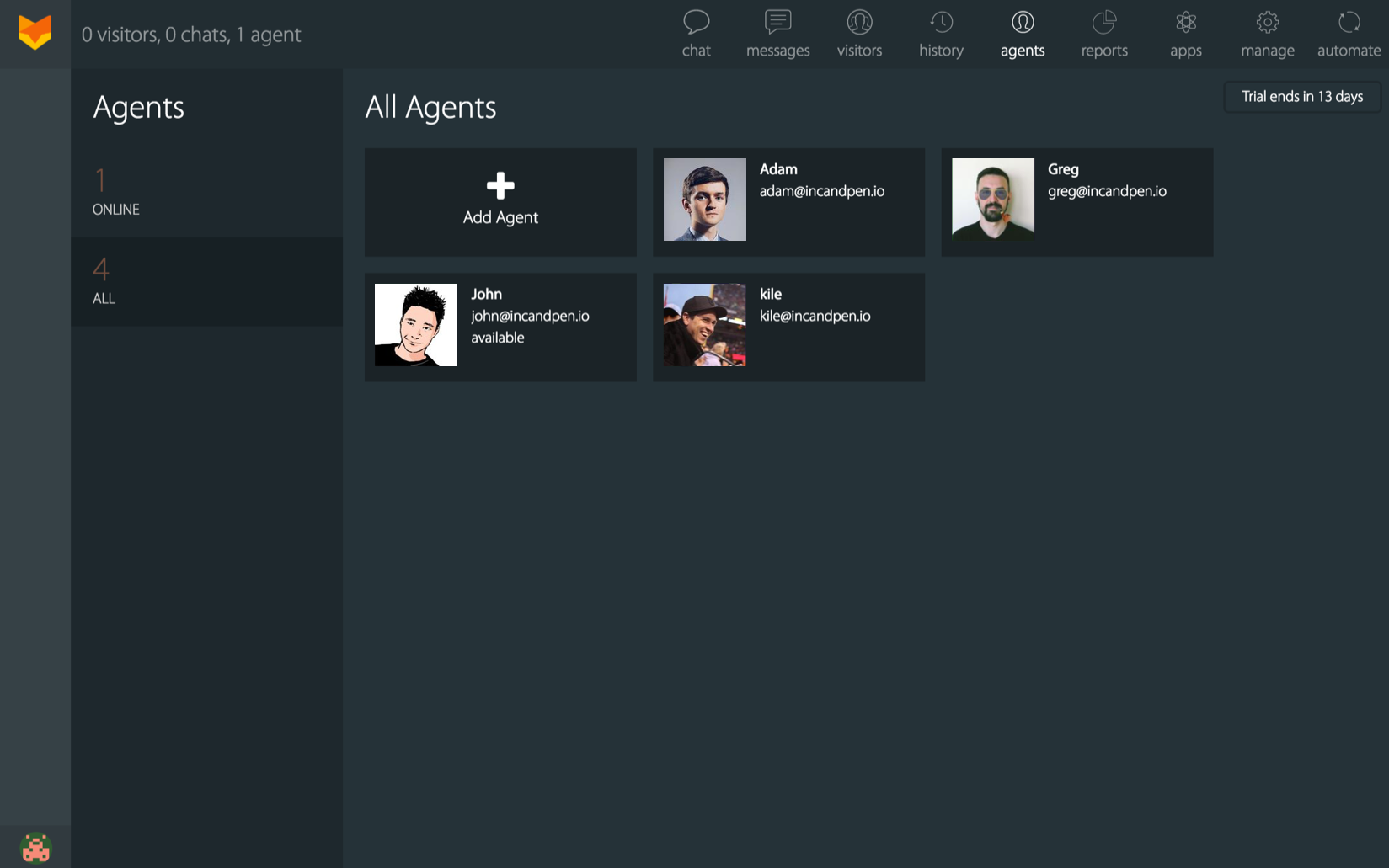 Manage agents from Okta